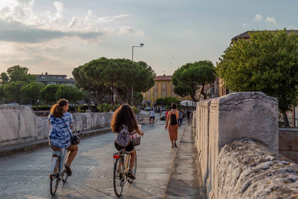 escursioni in bicicletta rimini Due pedali per tutti ponte di tiberio