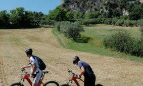 La Rocca di Verucchio con bicicletta elettrica