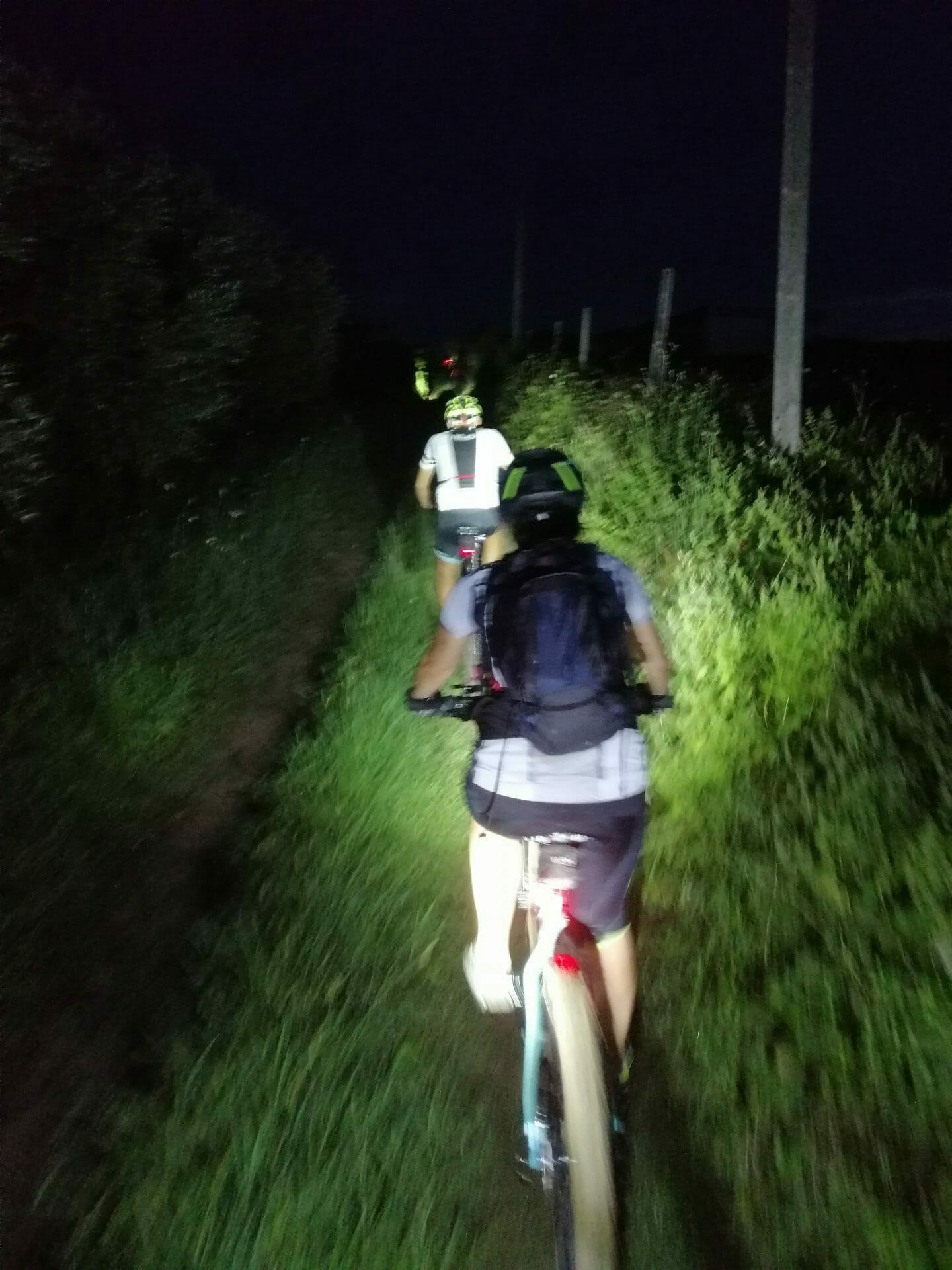 Escursione notturna in bicicletta e tagliatelle per tutti