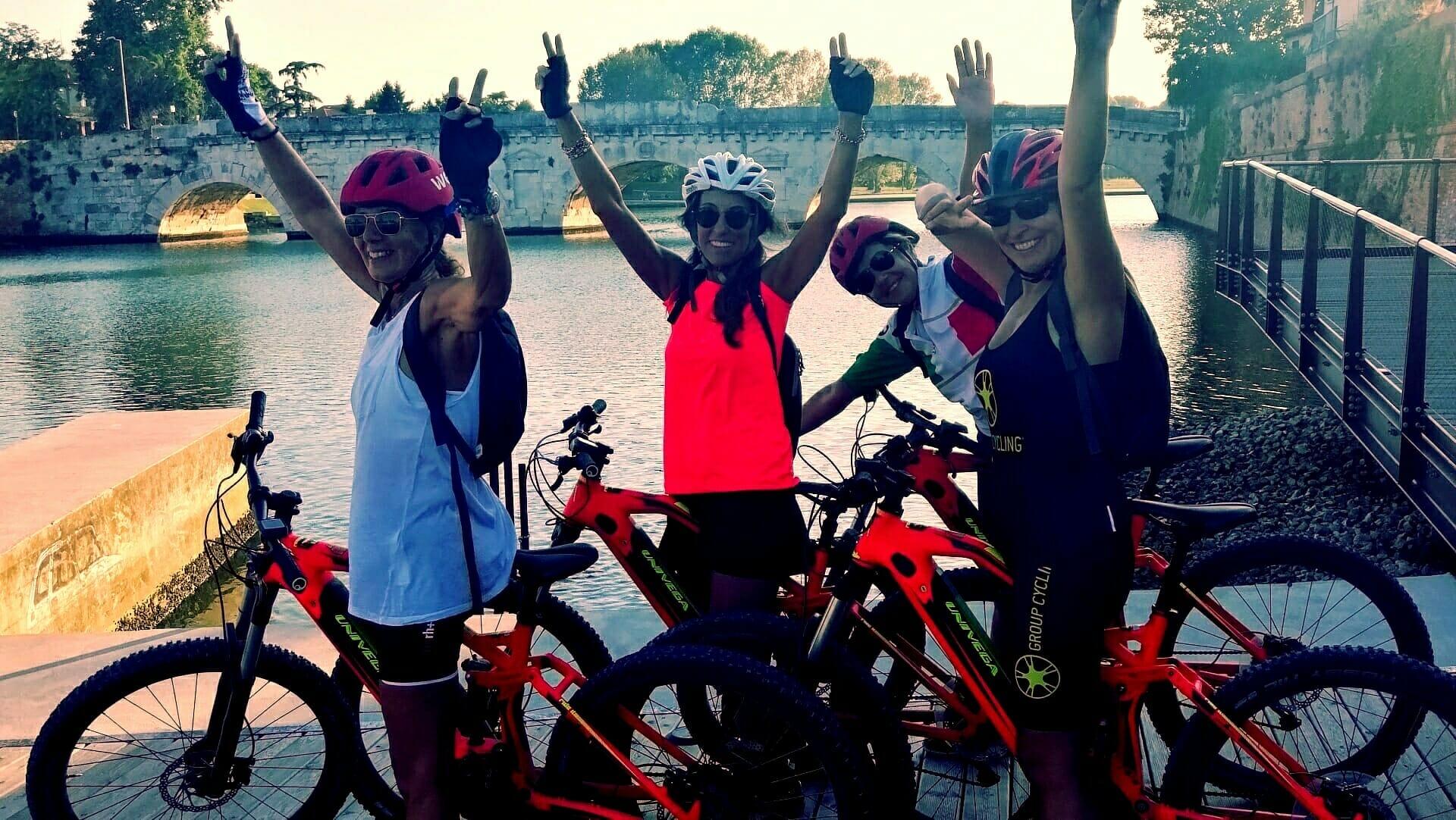 Sicurezza in mountain bike elettrica con Bike Tour Rimini